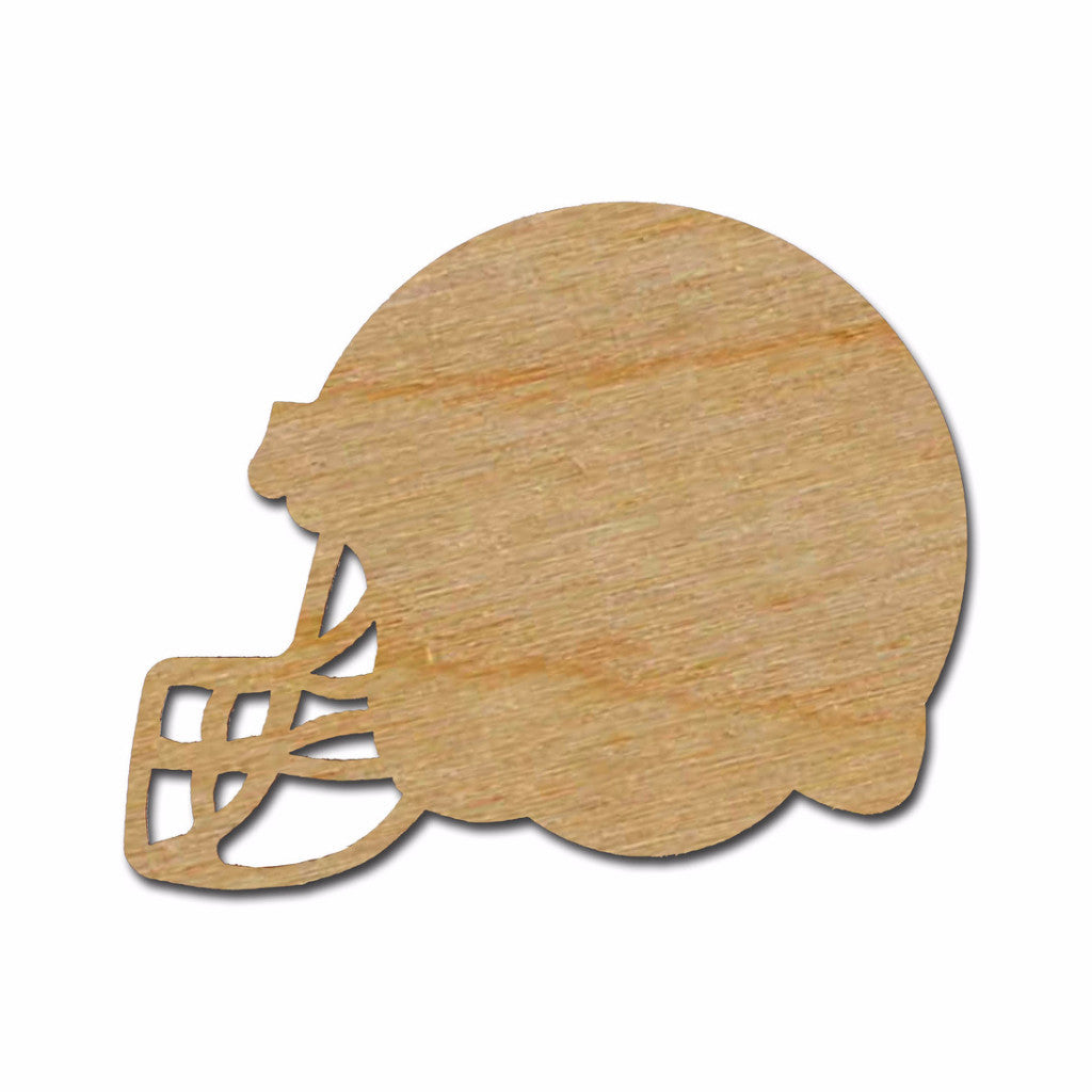 Football Helmet wood Cutout