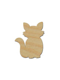 Fox Shape Unfinished Wood Cutouts