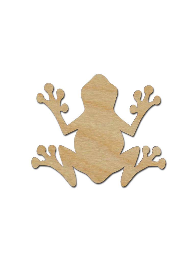 Frog Shape Unfinished Wood Craft Cutouts Variety of Sizes