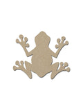 Frog Shape Unfinished Wood MDF Cutouts