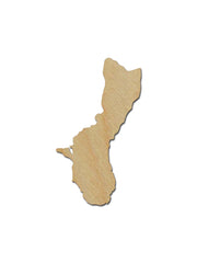 Guam Shape Wood Cutout