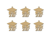 Graduation Cap 2019 Wooden Grad Hat Tags Variety Of Sizes