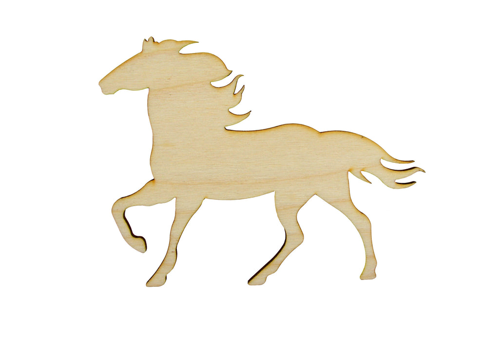 Horse Shape Unfinished Wood Animal Cutouts Variety of Sizes HRS01