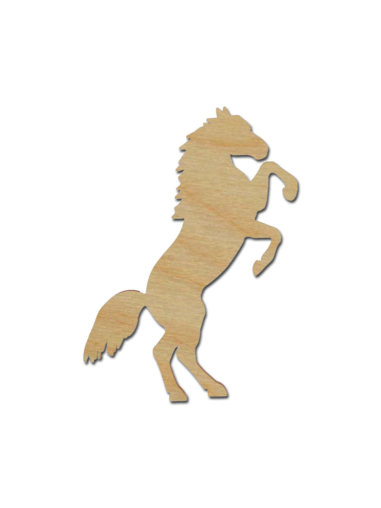 Horse Shape Unfinished Wood Animal Cutouts Variety of Sizes HRS03