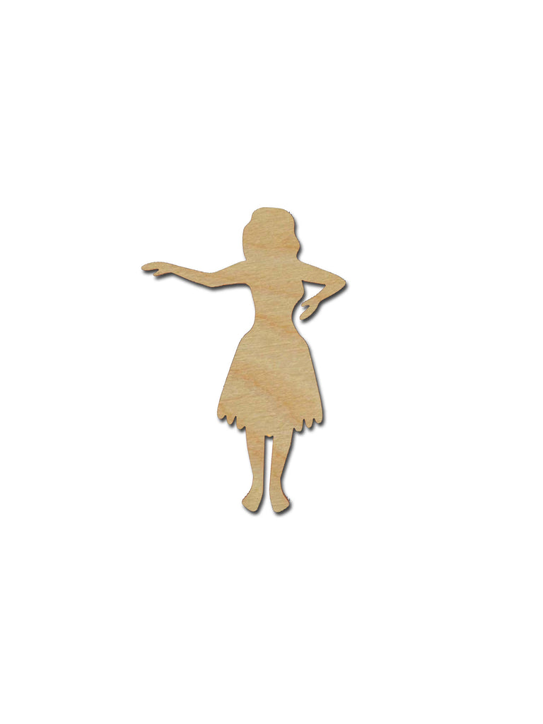 Hula Dancer Shape Unfinished Wood Cutout Variety of Sizes