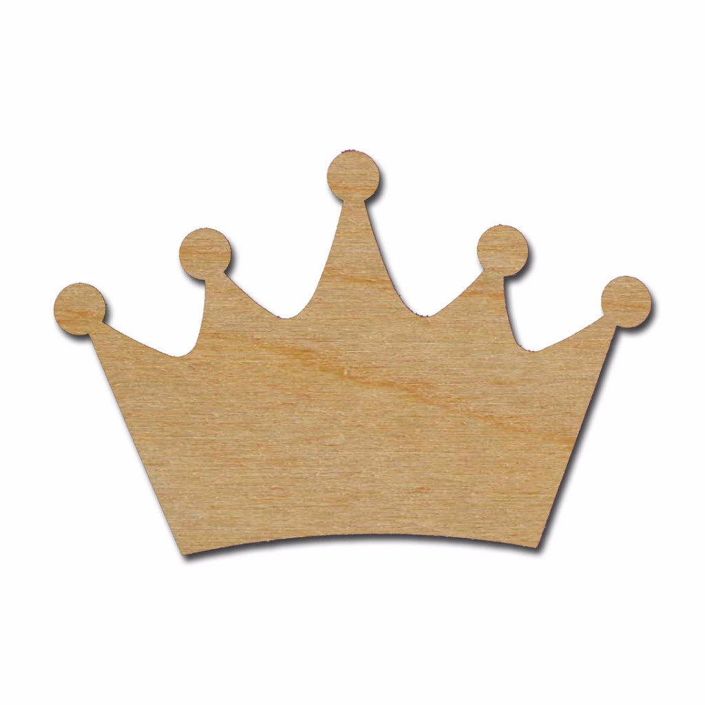 King Crown Shape Unfinished Wood Cutout Variety of Sizes