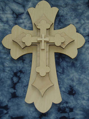 Unfinished Wood Crosses