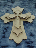 Unfinished Wood Layered Crosses