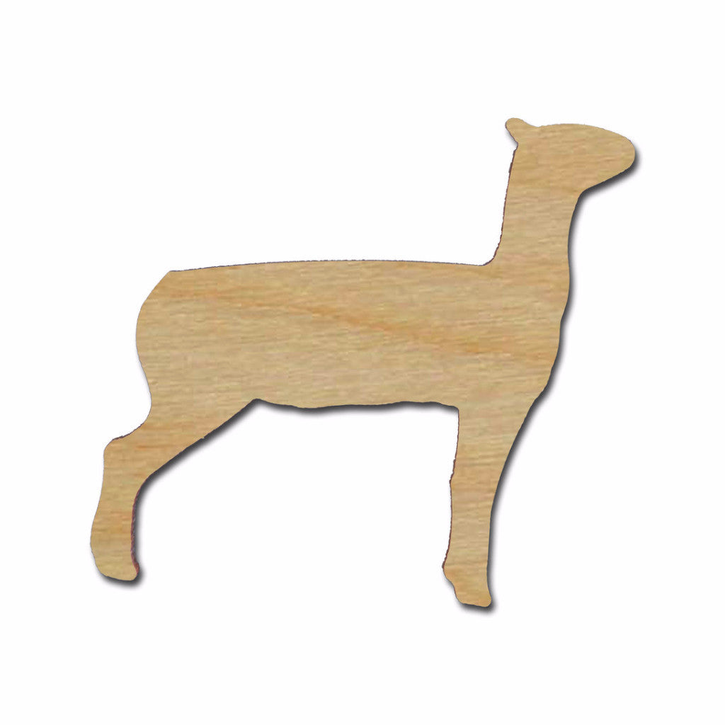 Lamb Shape Unfinished Wood Animal Cutouts Variety of Sizes