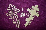 Rose Wood Cross Artistic Craft Supply