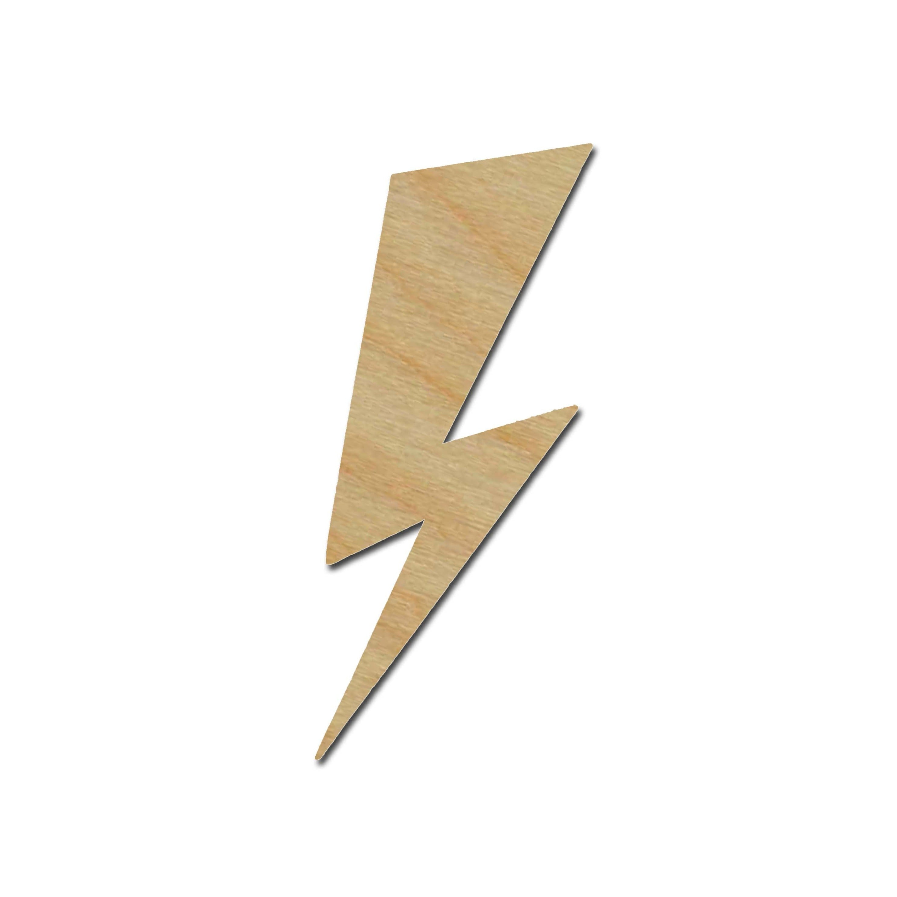 Lighting Bolt Wood Cut Out