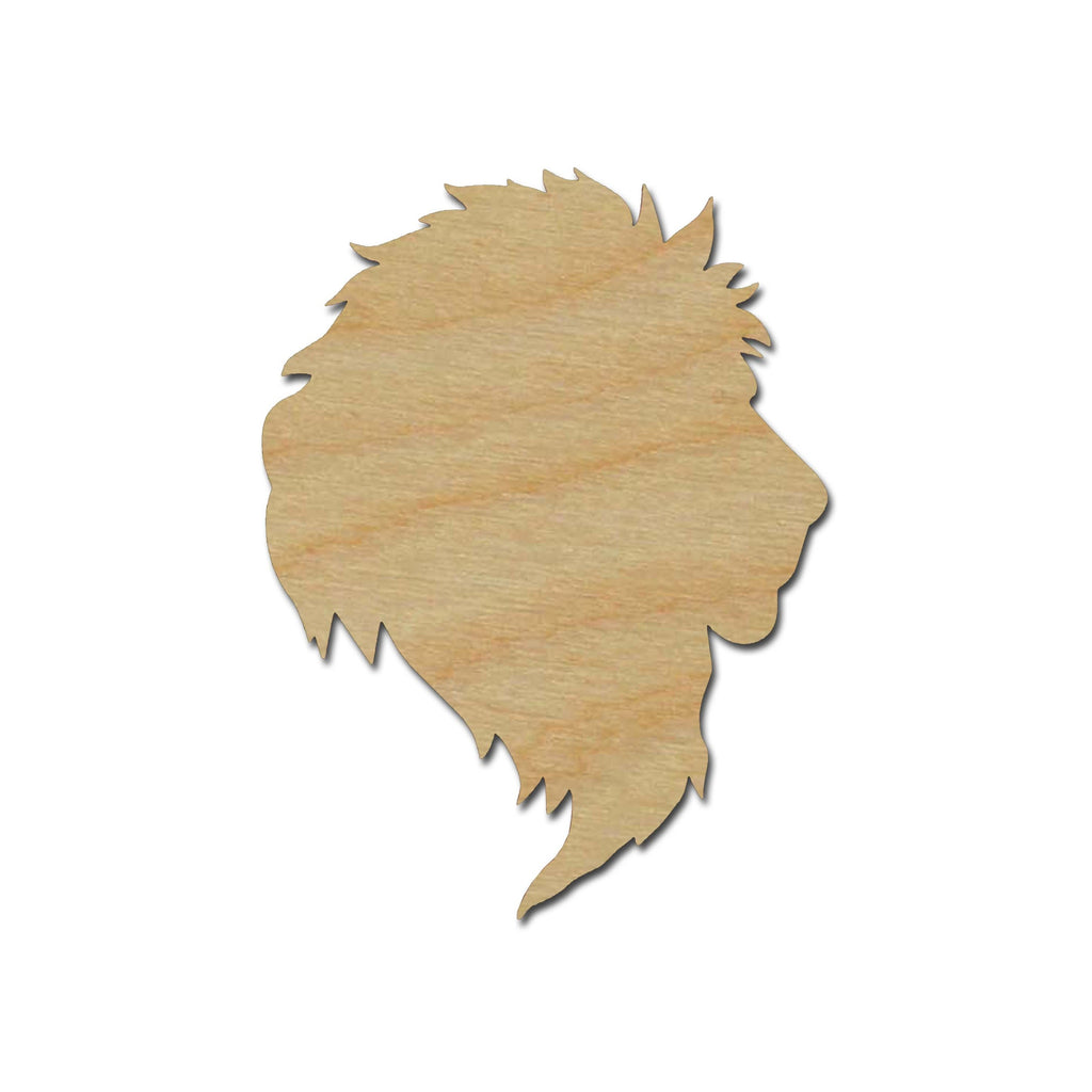 Lion Head Shape Unfinished Wood Cut Out Animal Crafts Variety of Sizes
