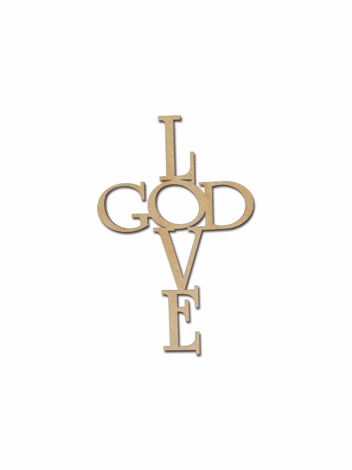 Love God Unfinished Wood Cross