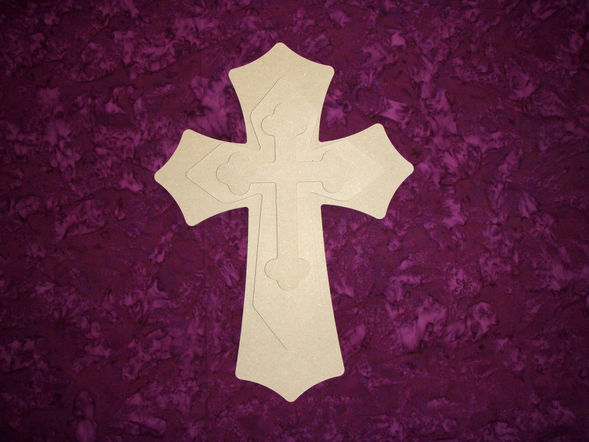 Layered Wood MDF Cross