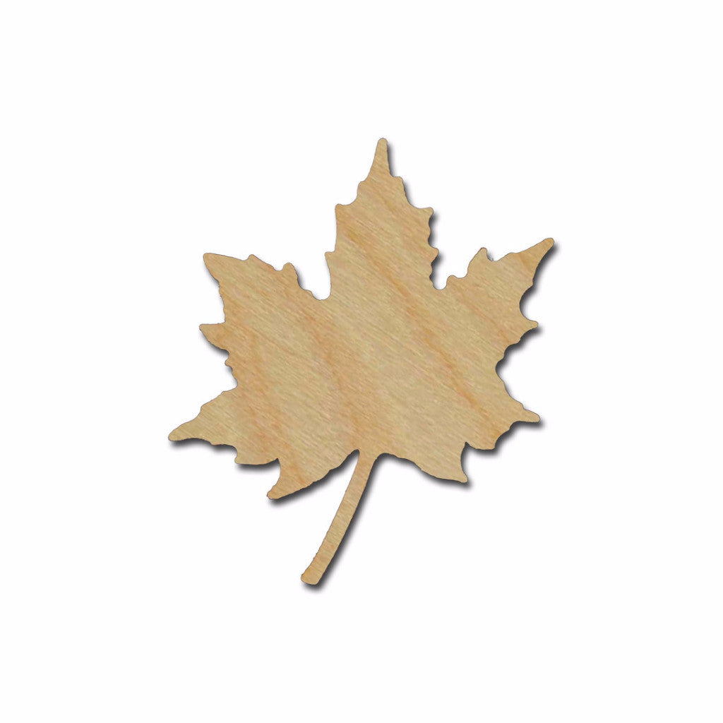 Maple Leaf Shape Unfinished Wood Cutout Variety of Sizes