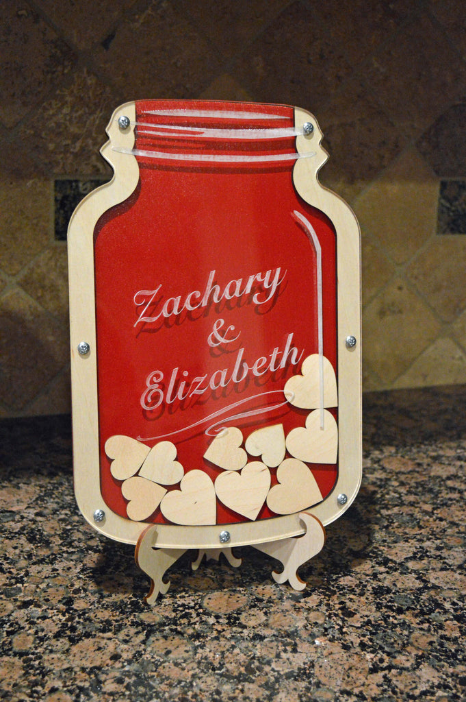Mason Jar Guest Book Alternative Personalized Wedding Decorations