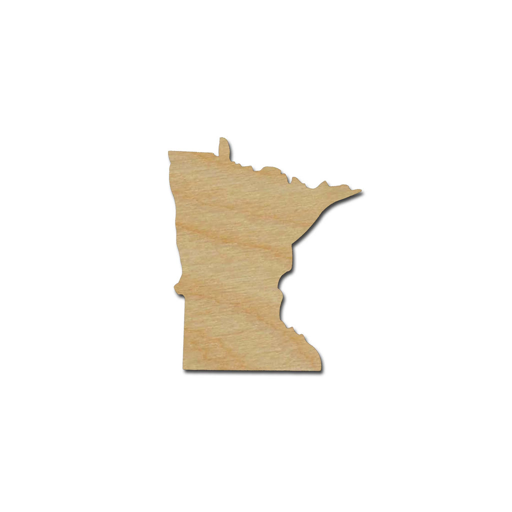 Minnesota State Shape Unfinished Wood Craft Cut Out Variety of Sizes