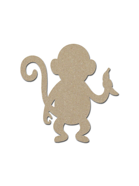 monkey shape unfinished wood craft cutout variety of sizes