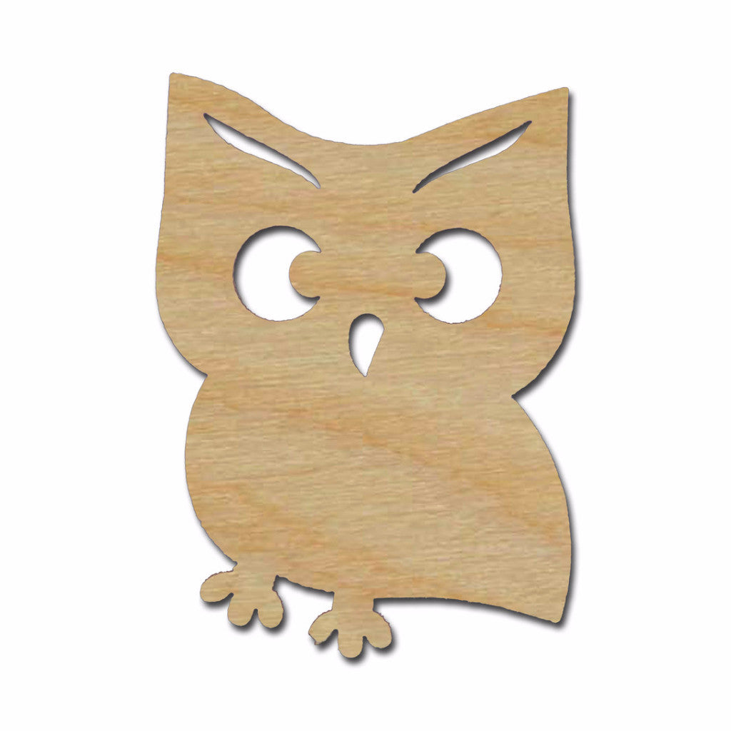 Owl Shape Unfinished Wood Cutouts Variety of Sizes