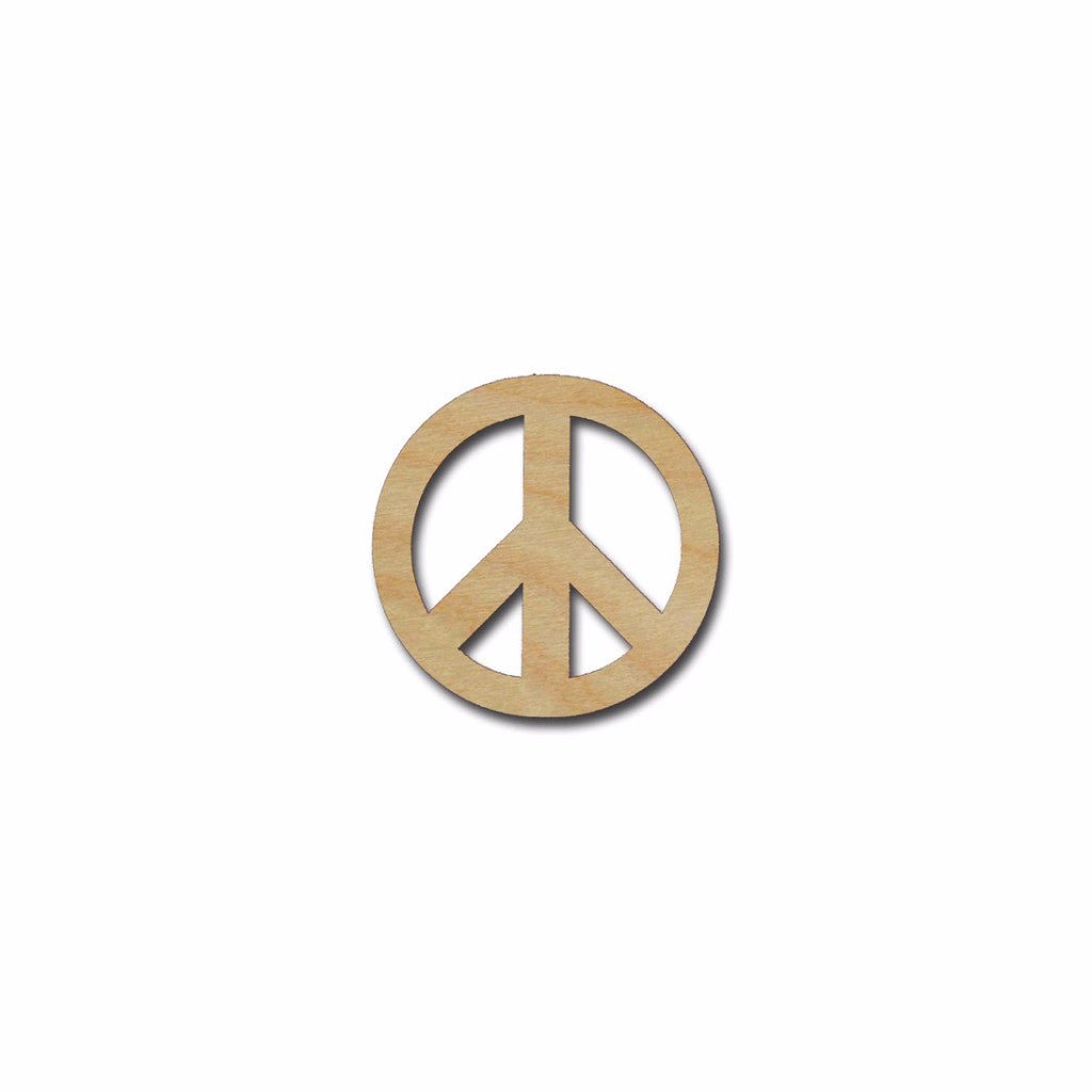 Peace Symbol Unfinished Wood Cutouts