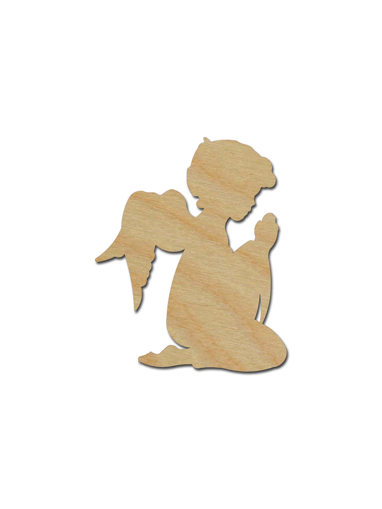 Praying Angel Unfinished Wood Cutout - Artistic Craft Supply