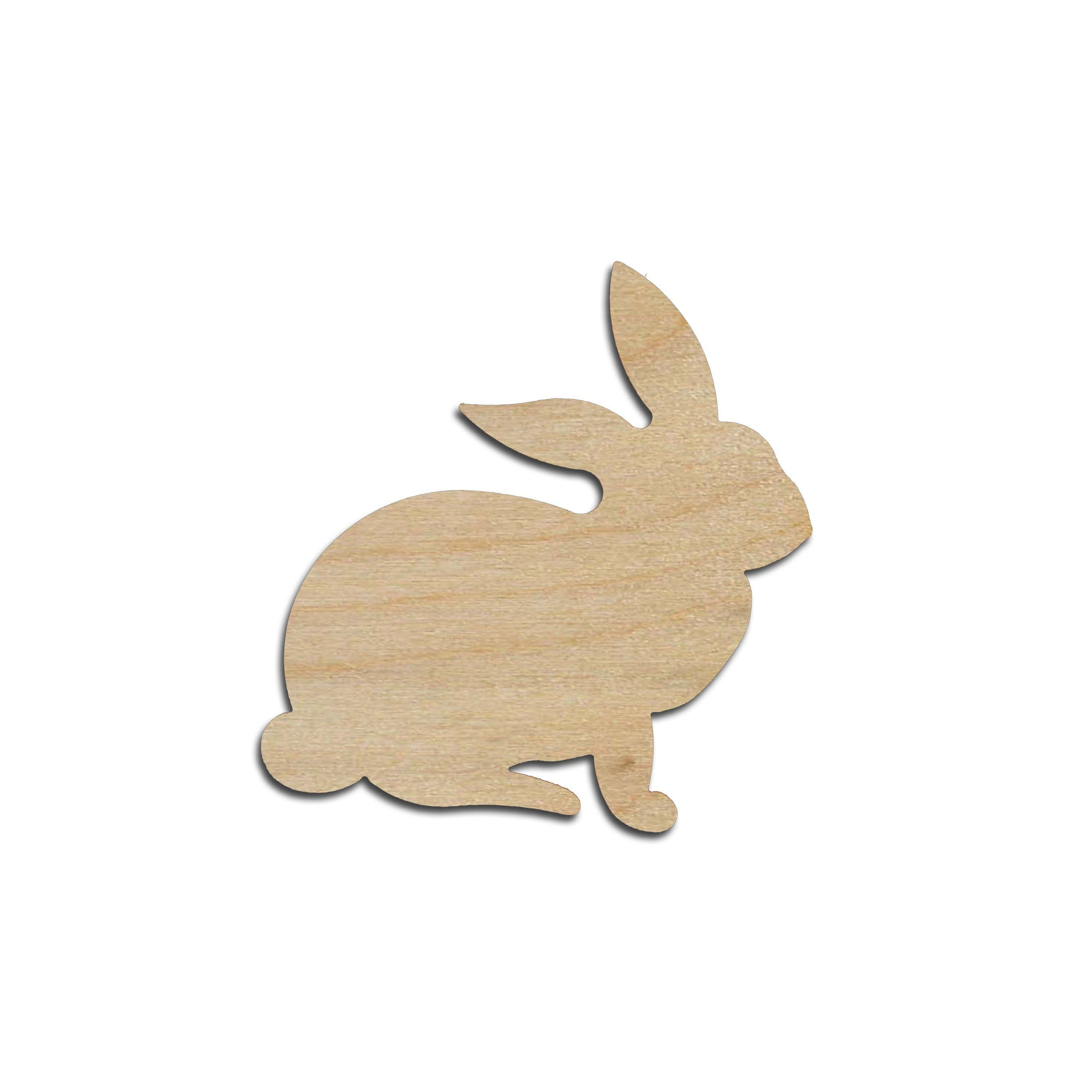 Rabbit Shape Wood Cut Out Unfinished Wooden Easter Bunny Animal