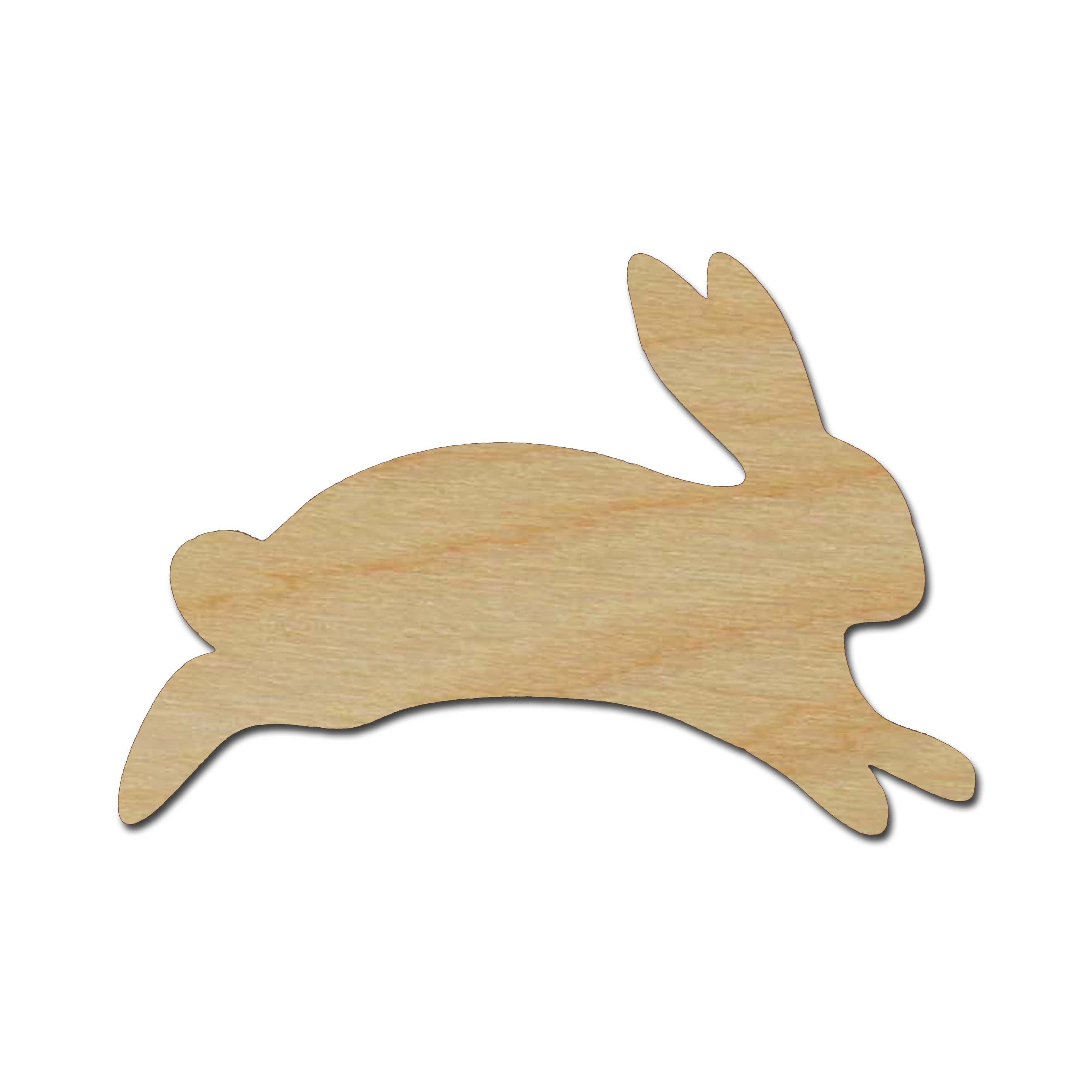 Bunny Rabbit Easter Peep Spring Blank Wood Shape Craft Supply Cottontail
