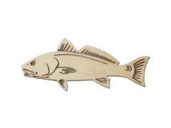 Red Fish Wood Cut Out