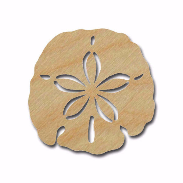 Sand Dollar Shape Unfinished Wood Cutout Beach Theme Variety Of Sizes