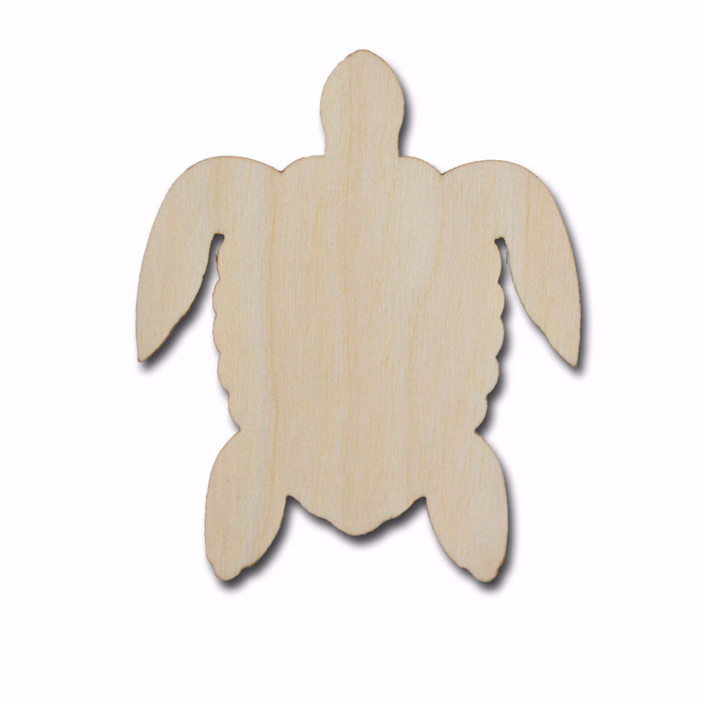 Sea Turtle Shape Unfinished Wood Craft Cutout Laser Cut Turtles Variety of Sizes