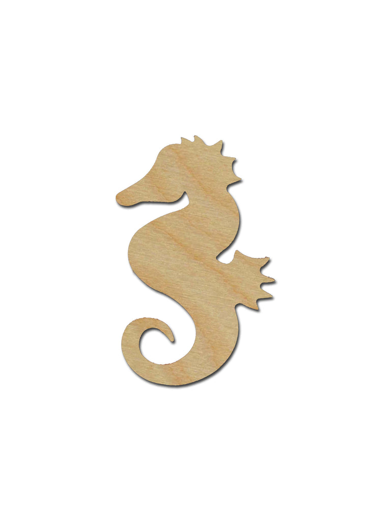 Seahorse Unfinished Wood Cutout Sea Life Theme Variety of Sizes