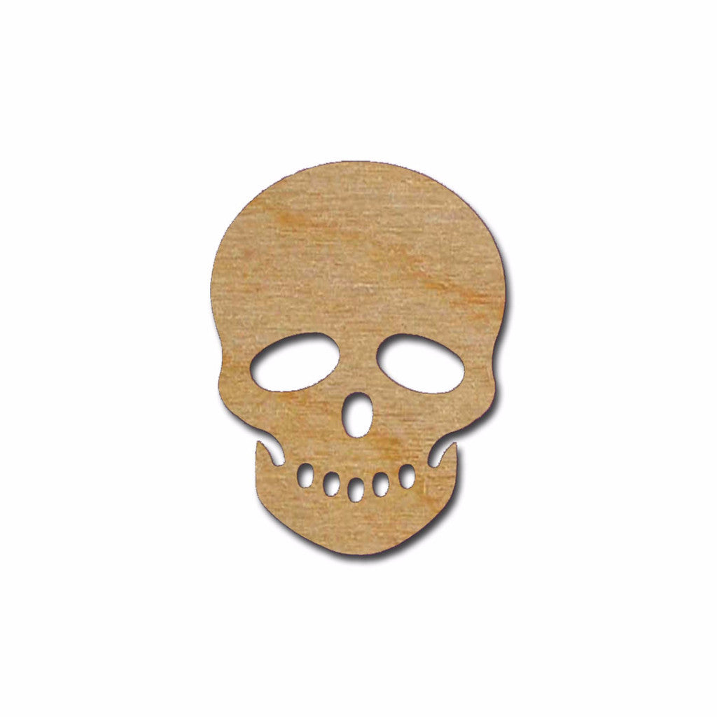 Skull Shape Unfinished Wood Cutout - Artistic Craft Supply