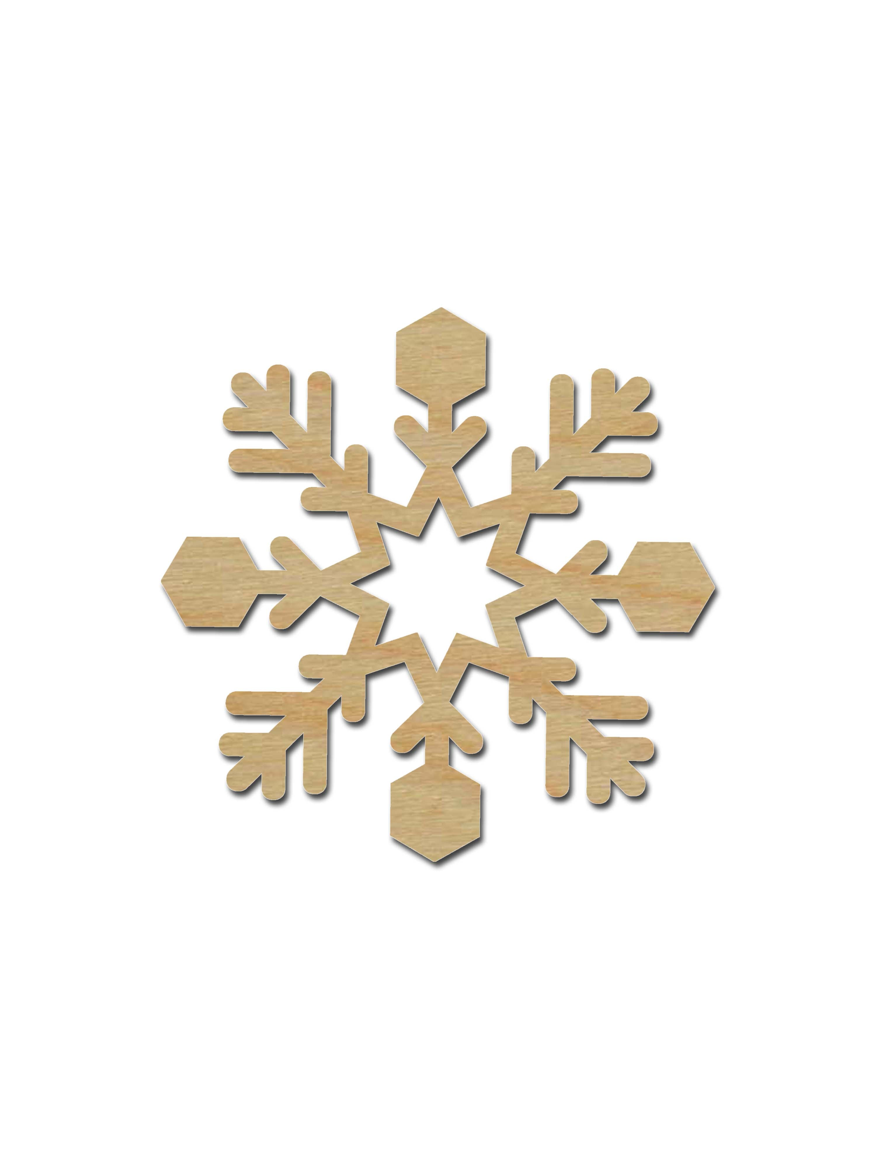 Snowflake Shape Unfinished Wood Cut Out