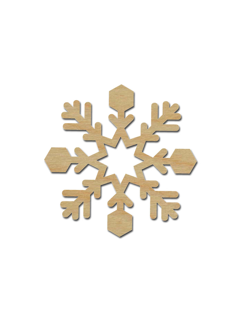 Snowflake Shape Unfinished Wood Cutout Holiday Decor Variety Of Sizes SNF01