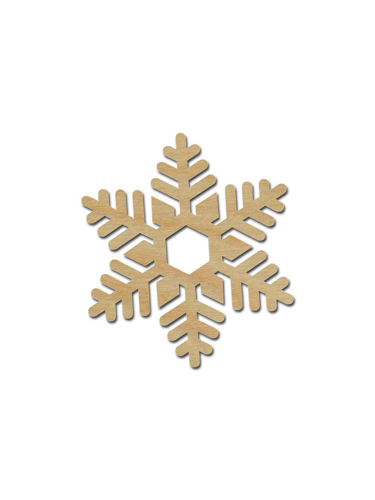Snowflake Shape Unfinished Wood Cutout Holiday Decor Variety Of Sizes SNF02