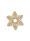 snowflake shape unfinished wood cutouts