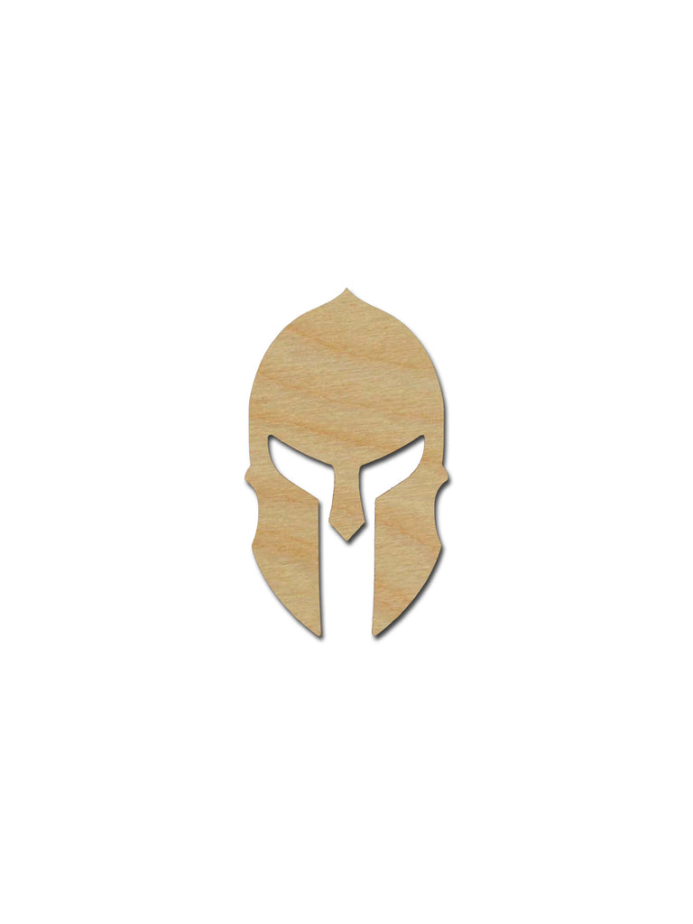 Spartan Helmet Shape Unfinished Wood Cutout Variety of Sizes