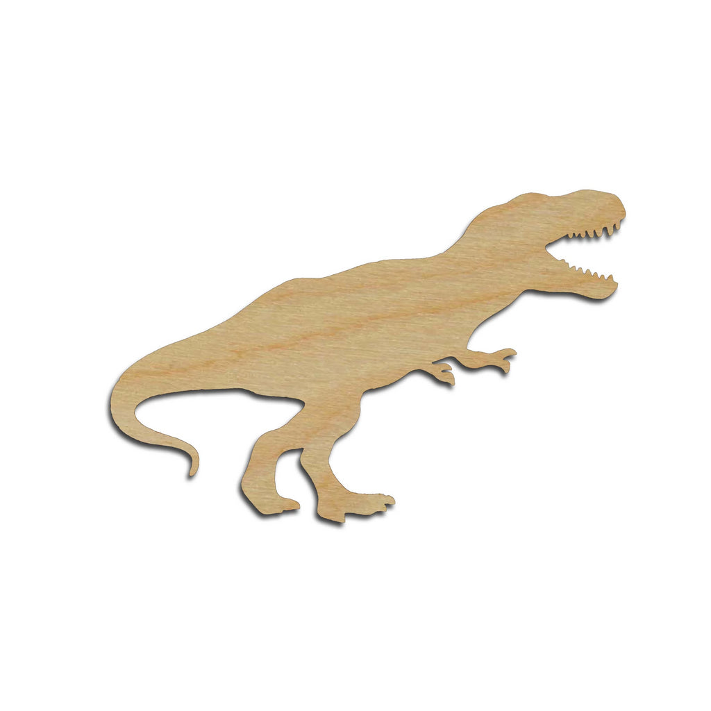 T Rex Dinosaur Shape Tyrannosaurus Unfinished Wood Cutout Variety of Sizes