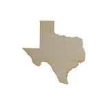 Texas State Unfinished MDF Cutout
