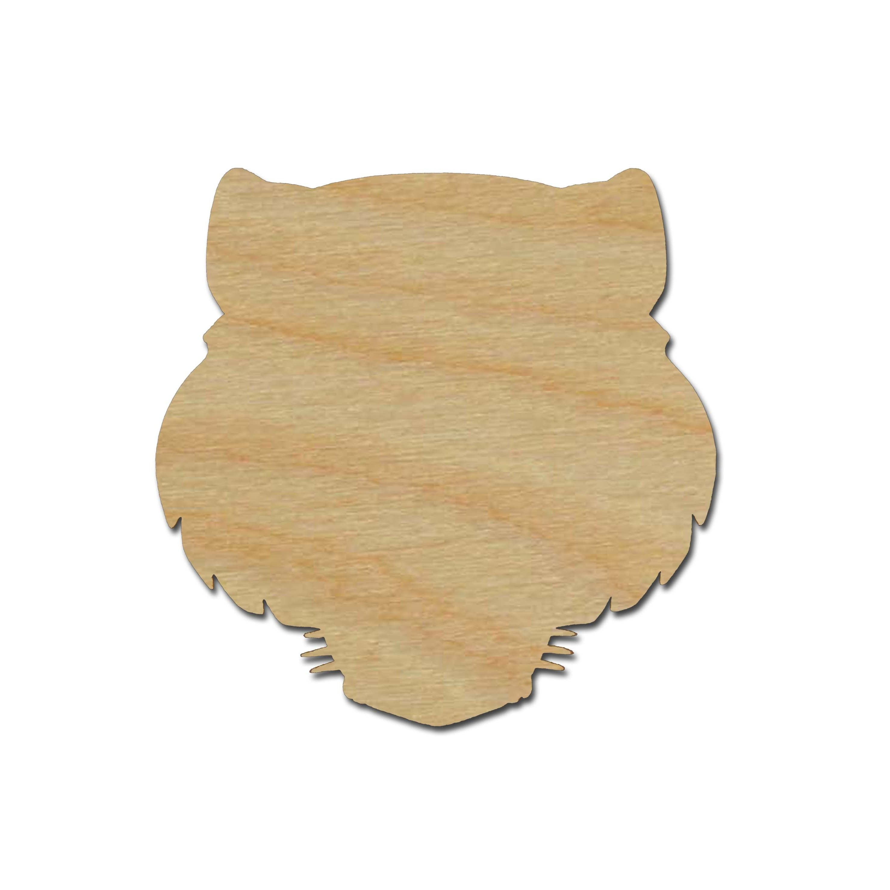 Tiger Head Shape Unfinished Wood Cut out