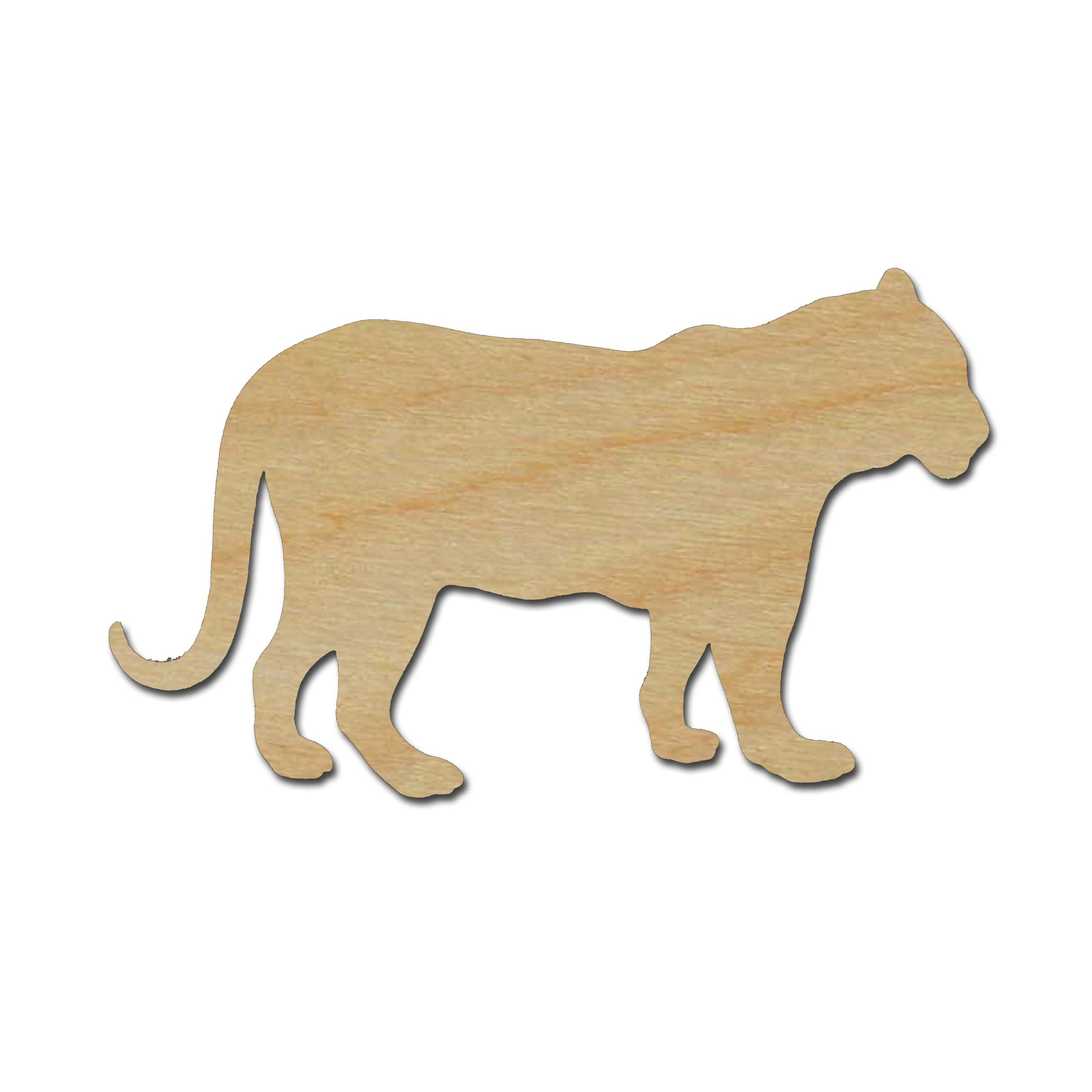 Tiger Shape Unfinished Wood Cut Out