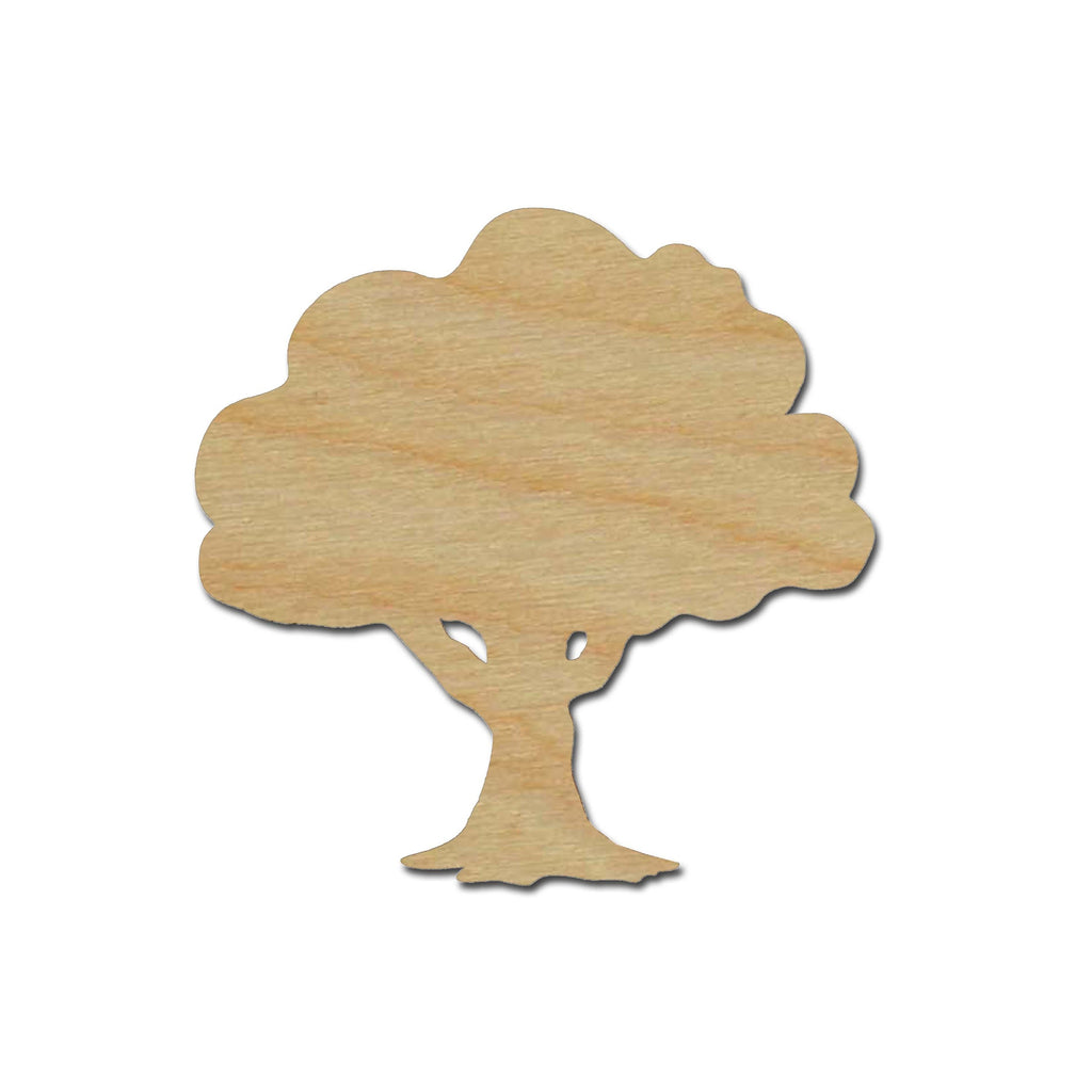 Tree Shape Unfinished Wood Cut Out Variety of Sizes