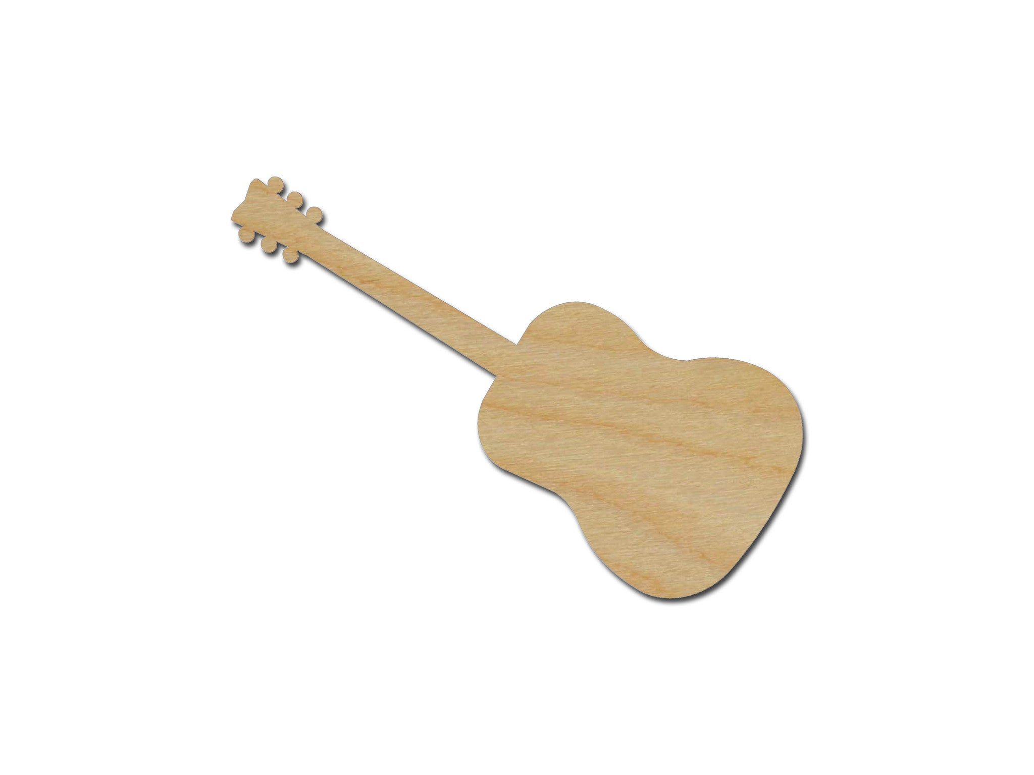 Acoustic Guitar Shape Unfinished Wood Cutout Variety of Sizes
