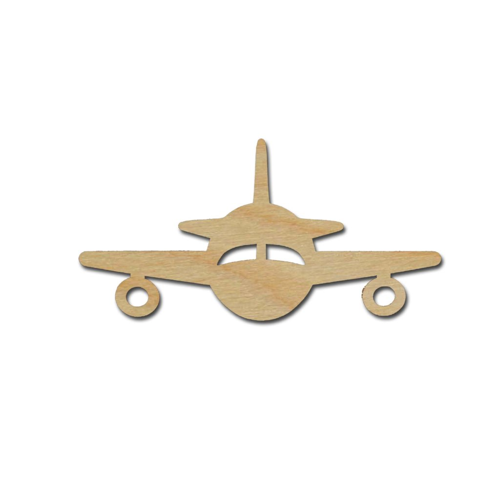 Airplane Shape Unfinished Wood Craft Cut Outs Variety of Sizes