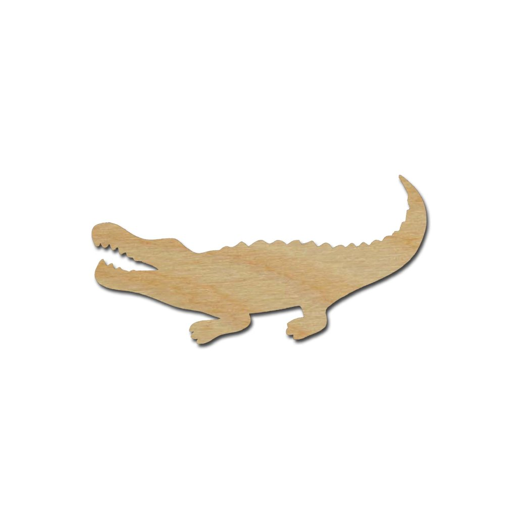 Alligator Shape Wood Cutouts Unfinished DIY Crafts Variety of Sizes