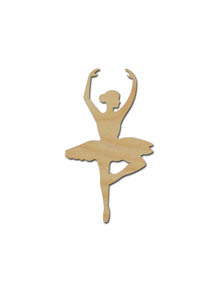 Ballerina Silhouette Shape Unfinished Wood Cutout Variety of Sizes