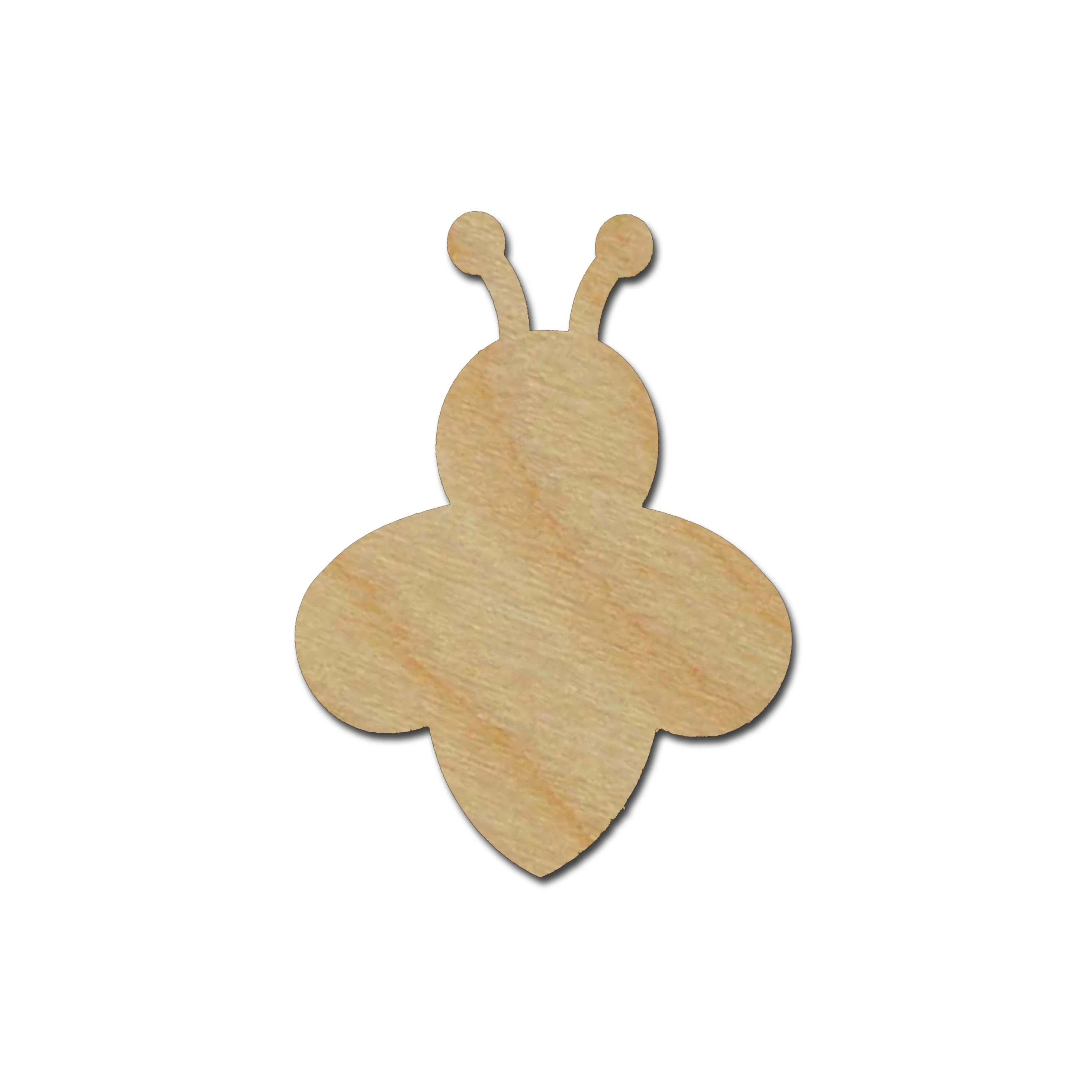 Bumble Bee Shape Unfinished Wood Cutout
