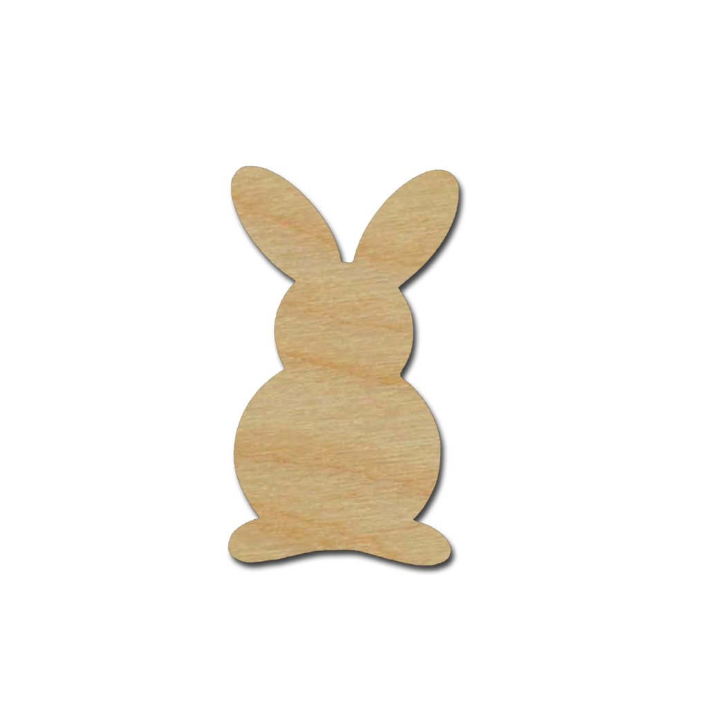 Bunny Rabbit Shape Unfinished Wood Craft Cutout Variety of Sizes