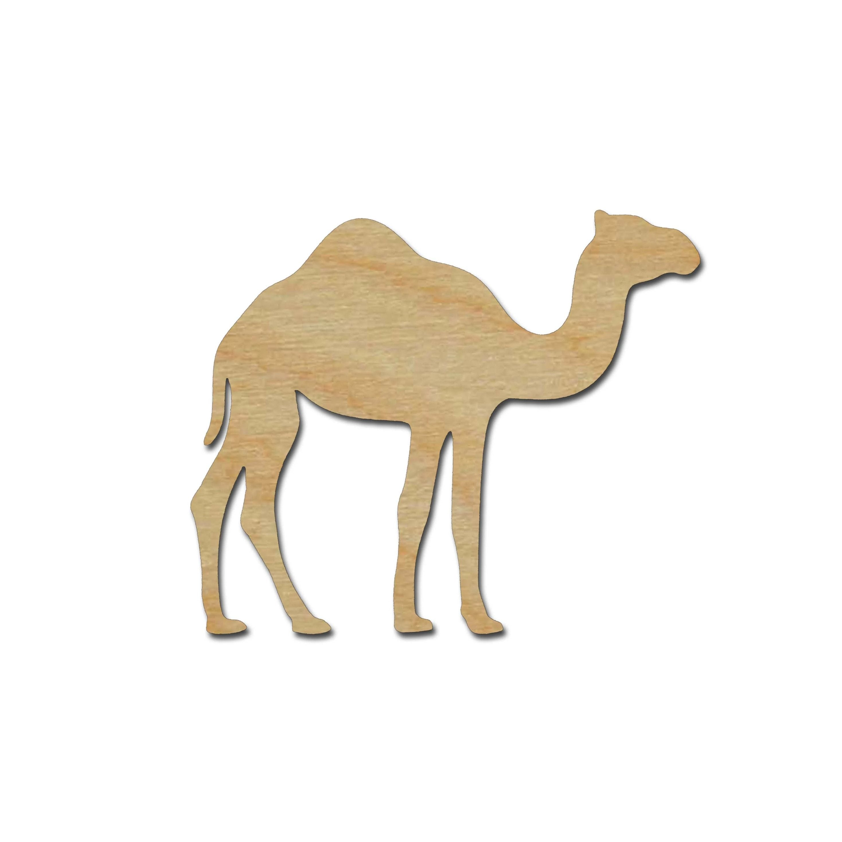 Camel Shape Unfinished Wood Cut Outs