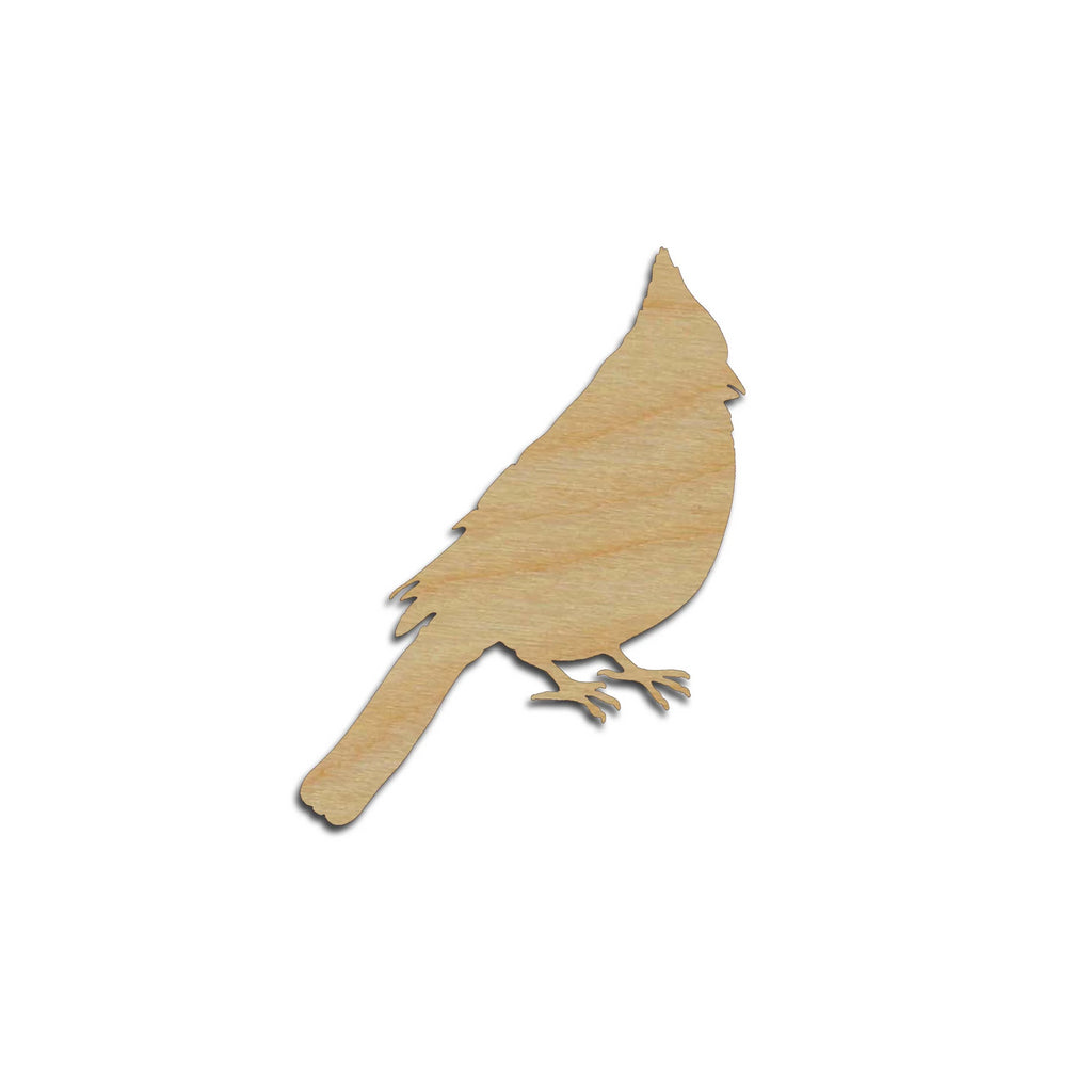 Cardinal Bird Shape Wood Cutouts Unfinished DIY Crafts Variety of Sizes